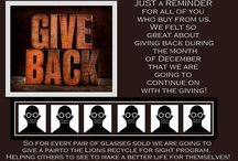 Giving Back / Ideas and Ways to Give Back including ways that Eyeglasses Warehouse are giving back.