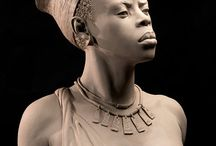 Art - Black is Beautiful in Busts & Statues & Figurines and other art / by C O