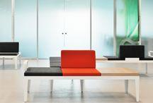 BANDAsteel / BANDAsteel - configurable metal framed seating & tables