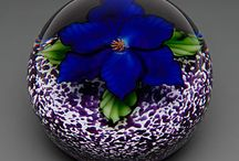 Paper Weights / Fine glass #paperweights, are widely produced, collected and appreciated as works of art, and are often exhibited in museums as examples of fine glass art. They are made entirely of glass by sole artisans, or factories, usually in limited editions. They first began to be produced, especially in France, in about 1845, but began a sustained revival and rise in popularity in the middle of the twentieth century. / by timespliters