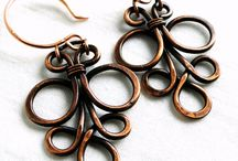 Copper and Silver, Wire and Metal Works / Copper jewelry and wire work, copper in home decorations and yard ornaments