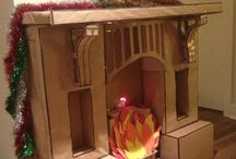 fausse cheminée carton