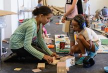 Children Were Born To Build / Snapshots of ConstructionKids' Day Camps - Winter, Spring & Summer. Typically week-long workshops where kids build individual and large projects.