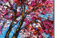 inspiratie schilderen bomen
