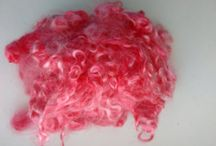 Mohair Locks / After shearing our goats, we skirt their fleeces and selected these outstanding locks. They have been washed with a gentle natural product.  Natural or dyed, you will love the shine of these mohair locks.