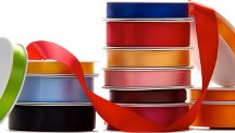 Economy Double Faced Satin Ribbon / Colourful double faced satin ribbon. Choose from a range of colours including: black, white, navy, teal, cream, silver, gold, green, purple, red and pink ribbon. Our economy ribbon is amazing value and great for everyday use!  https://www.aplpackaging.co.uk/ribbon/plain-ribbon/black.html