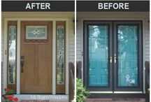 Door Installations Before and After / Photos that show you what is possible when you replace and update your front door.