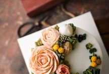 Buttercream flowers cakes
