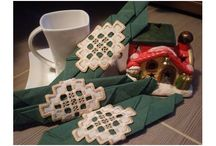 Christmas time / Hand made Christmas decoration for your luxury moments. Decorate your dinner table or Christmas tree with amazing hand made Hardanger embroideries.