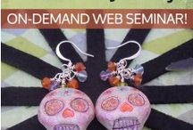 Polymer Clay Sugar Skulls / Mexican inspired art and jewelry