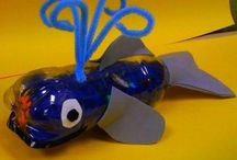 Sea animal craft idea / This page has a lot of free Sea animal(whale craft,shark craft,sea horse craft,fish craft,crab craft,sea shell craft,prek oyster craft,star fish craft,jellyfish craft) craft idea for kids,parents and preschool teachers.