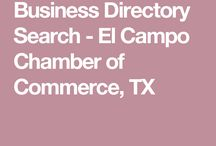 Chamber Information / The Go-To for all El Campo Chamber of Commerce and Agriculture information. Features: City information, community events and calendar, attractions, hunting information, dining and lodging guide, and business directory.