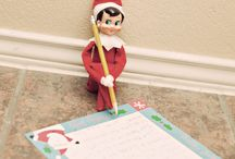 Elf on the Shelf Inspiration / cute ideas for elf on the shelf