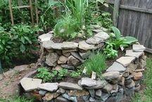 spiral slate garden