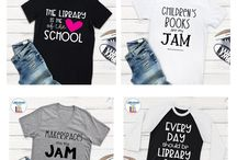 Librarian/School Media Specialist T-Shirts / Finally!  Cute and stylish t-shirts especially for librarians and school media specialists that have a sense of style!  Visit http://bit.ly/LibrarianTees to see all designs currently available!