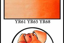 Yellow/Orange Copic Combos