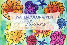 Kuvis - kukkia