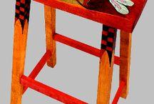 Beschilderde kruk