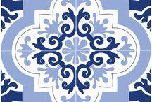 azulejo stencil