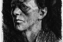 Schmidt Kollwitz Käthe / Storia dell'Arte Pittura Disegno Incisione Litografia  19°-20° sec. Käthe Schmidt Kollwitz   1867-1945