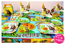 Fiesta de Plantas vs Zombies / Artículos para fiesta de cumpleaños de Plantas vs Zombies