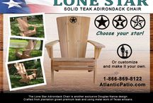 Lone Star Adirondack Chair - Teak Adirondack Chair / The Douglas Nance Lone Star adirondack chair is an awesome adirondack crafted entirely from teak and has a star embedded at the top!