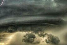 s t o r m s / Picture of earth's powerful weather, storms in this case.