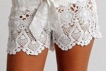 crochet shorts and skirts