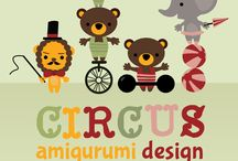 """amigurumi circus / Amigurumipatterns.net hosts the biggest amigurumi design contest in the world. This year's theme is """"circus"""". Check out all the entries or join with your own on http://www.amigurumipatterns.net/designcontest/"""