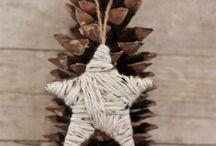 Landsbyjul Rustic X-mas / Rustic Christmas decoration