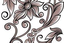 prints stencil decoupage