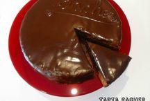 tarta Sacher de chocolate / tarta Sacher de chocolate fácil receta paso a paso  http://www.golosolandia.com/2014/10/tarta-sacher-de-chocolate.html