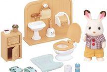 Sylvanian Families Zestaw z Bratem Królików z Czekoladowymi Uszkami (Łazienka) / Wyjątkowe zabawki dla dzieci marki Sylvanian Families