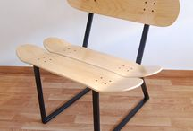 Skateboard Chair, bench or stool for stylish rooms / If you are a sports man and skateboard lover then we have a skateboard chair that is ideal for you! ... Want to make your furniture more friendly? reflect your lifestyle 100% skateboarding