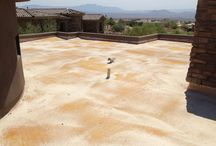Crawford Residence Foam Roof Restoration / The expert foam roofers at ProSource Roofing performed a Western colloid coating restoration to an existing foam roofing system on a residential home in Fountain Hills, Arizona. The restoration process included: base coat application with embedded Tytex re-enforcement fabric, intermediate coating on top of fabric layer, and the finish white top coat application.  ProSource Roofing, LLC Chris Woodward 1302 W. 23rd St, Ste 107 Tempe, AZ 85282 Phone: (602) 366-5025 Office: (480)203-2232