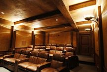 Theater Rooms / With  theater rooms like these, it'll be hard to keep your eyes on the screen - the beauty of these rooms will consume your gaze. Enjoy!