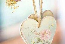 corações e pássaros