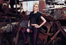 junkyard photoshoot