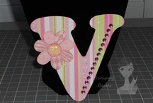 """4"""" Monogram Letters/Titles / by Scrappy Beads"""