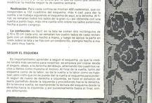 CROCHET FILET / Tècnica tejido crochet para visillos y otros.