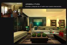 Antes y Después / Estas imágenes muestran el antes y después de nuestra intervencion en una vivienda o en algún espacio