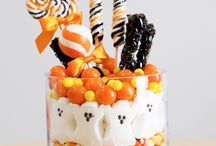 Candy Corn and Caramel Apples