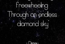 Written in the stars / Our own collection of star inspired quotes.