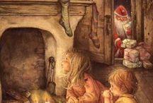 dipinti con babbo Natale