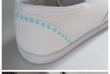 paintings on shoes chlothes  alles