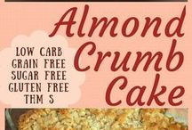 ALMOND CRUMB CAKE low carb