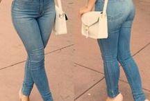 larger size high waist jeans