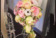 Shabby Chic / vintage style wedding flowers