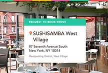 SUSHISAMBA West Village on ExpressBook / Book this experience: Semi-Private Tasting Menu with Unlimited Wine, Sake and Spirit Pairings in the Rooftop Garden - https://venuebook.com/venue/1069/sushisamba-west-village/ / by VenueBook