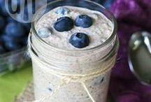 Overnight oat blaubeere